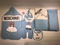 burberry Check Cotton Baby Nest baby blanket bodysuit kids gift set Swaddle suit