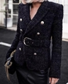 Balmain Buttoned Knit Long-Sleeve Dress V-neck Long sleeves Pullover Button sale