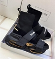 Balmain BBold Mixed Leather Fashion Sneakers Round toe Lace-up Flat chunky heel