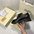 ALEXANDER MCQUEEN Glossed-leather chunky exaggerated-sole loafers fashion shoes
