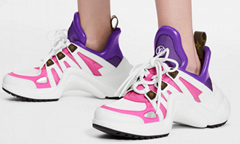 louis vuitton LV Archlight sneaker white calf leather flashes of color wave-shaped outsole