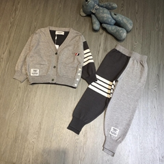 Thom Browne Cashmere Cardigan Sweater top pants tracksuit set for baby luxury