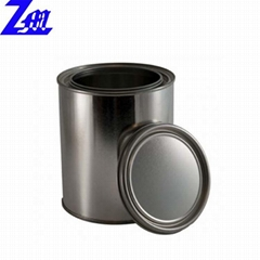 round custom paint oil metal tin can with lid packaging