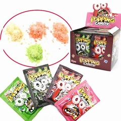 Magic fruity flavor popping rock candy