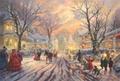 Modern Thomas Kinkade Landscape oil painting TK000