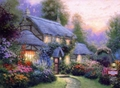 Modern Thomas Kinkade Landscape oil