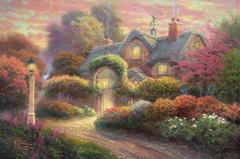 Modern Thomas Kinkade Landscape oil painting TK004