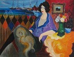 Itzchak Tarkay Nouvelles Figuration Art Oil Painting IT004