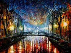 Modern impressionism palette knife oil painting kp15041