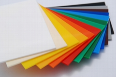 Colorred Acrylic sheet for outdoor usage