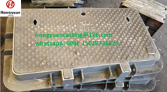 JRC4 ductile iron manhole cover for Etisalat and Du