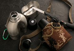 Stainless Steel Military Vacuum Water Canteen