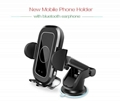 2019 New Infrared Touch Button Car Phone Holder With Battery Bluetooth Earphone