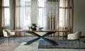 家唯依玻璃台餐飯桌長方形透明台