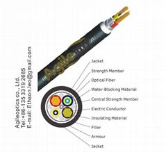 Hybrid Tactical Fiber-Copper optic Cable