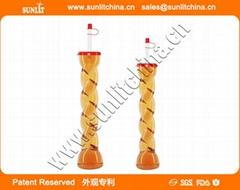 China Twist Style Yard Cups Party Slush Yard Cups With Lid & Straw