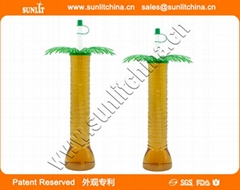 Hot Selling Palm Tree Style Yard Cups Wholesale Palm Tree Style Plastic Yard Cu