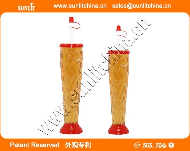 Beach  Football Style Yard Cups Football Style Slush Yard Cups With Lid & Straw 3
