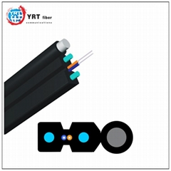 Optical fiber FTTH drop cable 2 core self-supporting fiber optic cable indoor