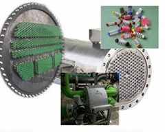 冷水機冷凝器管刷在線清洗系統