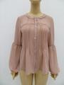 女士或肥婆纯色休闲长袖衬衫 1