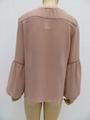 女士或肥婆纯色休闲长袖衬衫 3