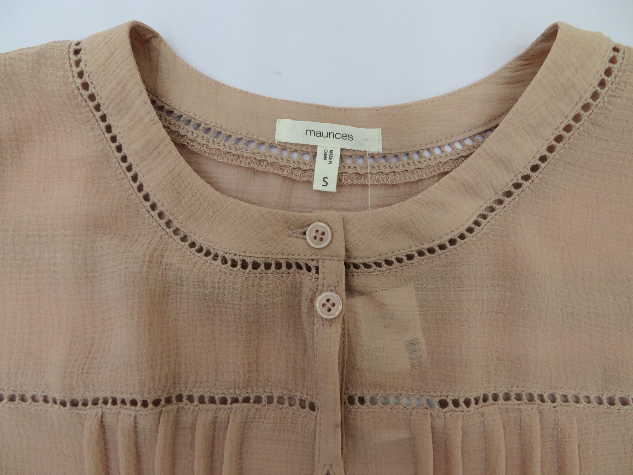 女士或肥婆纯色休闲长袖衬衫 4