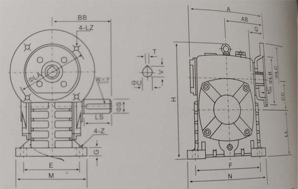 WPDS250-60蝸杆減速機 2