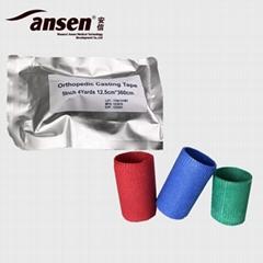 AnsenCast Air-permeability Fiberglass Cast Orthopedic Casting Tape Water Activat