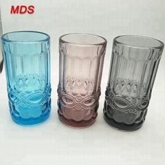 Wholesale coloured custom vintage tiki water drinking glass mug