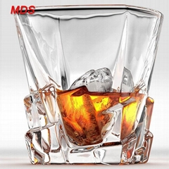 Classical square iceberg beautiful whisky glass set cup for bar and hotel