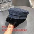 2020 Lv younest new women sport cap straw Transverse grain hat beret round hat