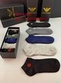 Wholesale low price colorful men sport Armani short socks armani long socks