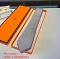 Newest fashion men business Hermes spot tie Hermes stripe necktie low price