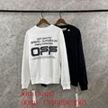 2020 offwhite black long t-shirt off-white men long sweater shirt