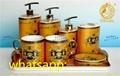 2021 wholesale high quality versace ceramics bathroom set bathaccessories sets