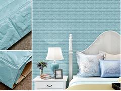 3d砖墙贴纸背胶自粘PE泡沫棉壁纸砖纹软装背景墙壁装饰天空蓝