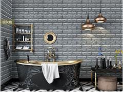 3d砖墙贴背胶自粘面板PE泡沫棉壁纸砖纹软装背景墙壁装饰银灰色