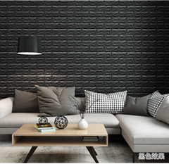 3D Wallpaper Sticker Self-adhesive Faux Brick Textured Effect Background
