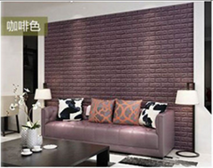 3d砖墙贴背胶自粘面板PE泡沫棉壁纸砖纹软装背景墙壁装饰咖啡色