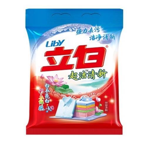 立白洗衣粉4kg清新无磷袋装8斤去污不伤手,一件代发 1
