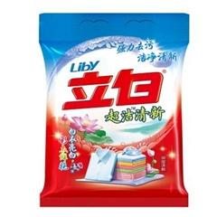 立白洗衣粉4kg清新無磷袋裝8斤去污不傷手,一件代發