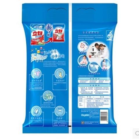立白洗衣粉4kg清新无磷袋装8斤去污不伤手,一件代发 2