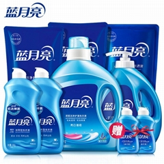 批發藍月亮洗衣液3kg*4瓶裝薰衣草香亮白增艷深層潔淨一件代發