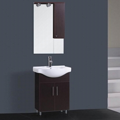 MDF cheap wash bain with mirror cabinet