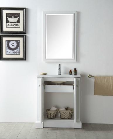 30 White Eco Friendly Bathroom Vanity