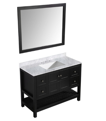 Bathroom Vanity With White Marble Top