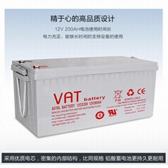 12V200AH sealed lead acid battery solar battery with CE ISO and UL certification