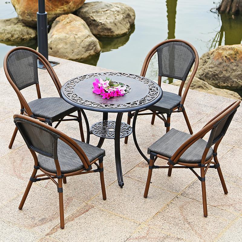 五件套組合戶外藤編桌椅 2