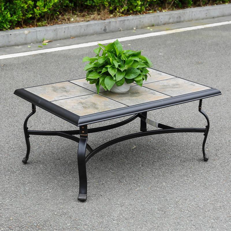 網布沙發椅鋁茶几套裝 3